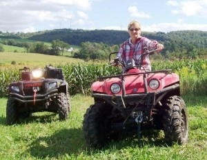 ATV ride on farm