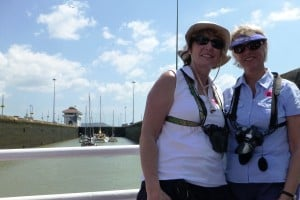 The sisters traversing the Panama Canal - 2013