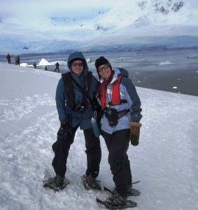 Snowshoeing in Antarctic