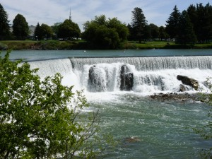 Idaho Falls part of Snake River and hydroelectical power