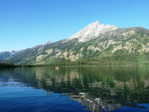 Early morning reflection on Jenny Lake, Teton National Park