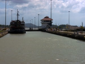 Entering the Pedro Miguel Lock