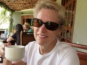 Judith Ann Kirk Professioal Organizer Productivity Coach mets with you over a cup of coffee