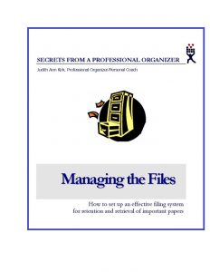 Cover of e-booklet Managing the Files