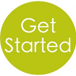Green circle for Get Started